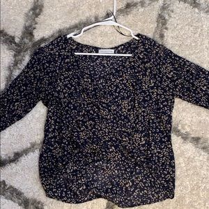 Urban outfitters Long Sleeve semi crop blouse